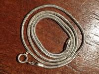 Short silver snake chain