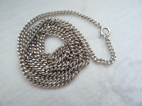 Long silver links chain