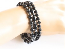 Onyx stretch bracelet set