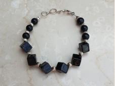 Black onyx cube bracelet
