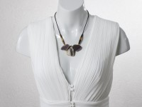 Adjustable Botswana agate necklace (25-80cm)