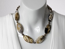 Leopard agate necklace