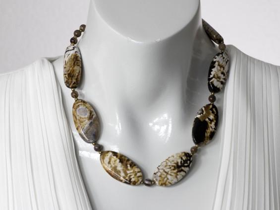 Leopard agate necklace