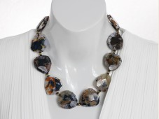 Chunky agate necklace