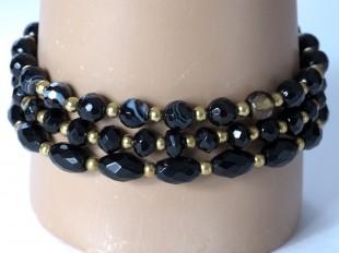 Stretch agate bracelets - 3 styles