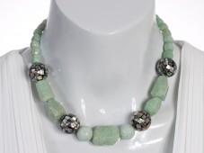 Amazonite and abalone necklace