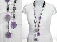 Ametrine & amethyst statement necklace