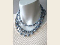 Long angelite necklace