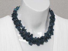 Blue apatite strand necklace