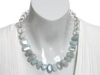 Aquamarine & Crystal necklace