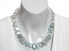Aquamarine & Crystal necklace