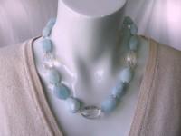 Aquamarine & Crystal quartz necklace