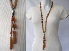 Long aventurine necklace