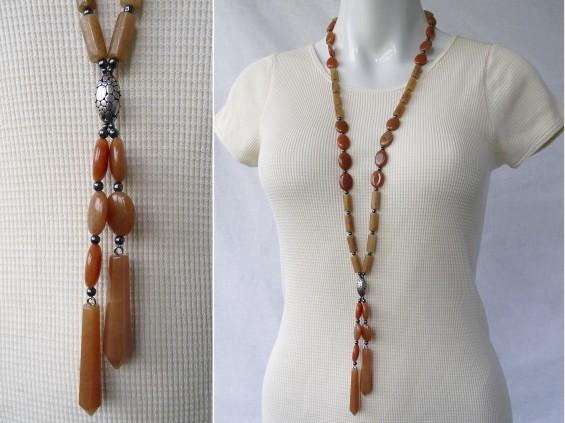 Long aventurine necklace