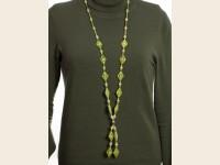 Lemon stone necklace (serpentine)