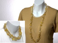 Long citrine necklace