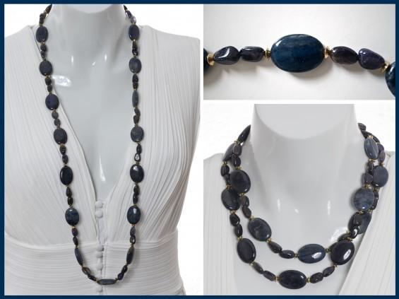 Blue Dumortierite necklace