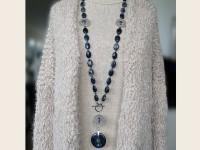 Dumortierite necklace