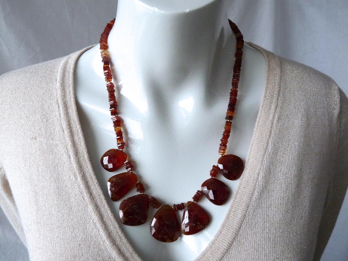 hessonite necklace