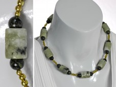 Olive green Jade necklace