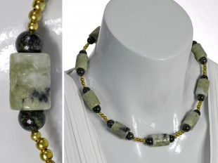 Olive green Jade necklace