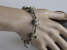 Dalmatian cubes bracelet