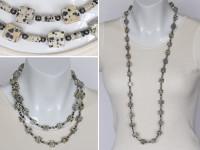 Dalmatian cubes necklace