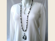 Zebra jasper necklace with pendant