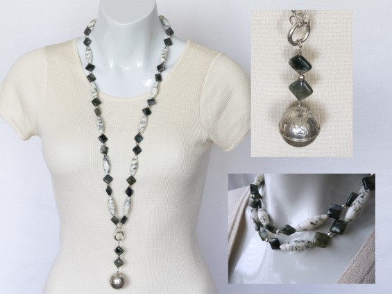 white jasper necklace