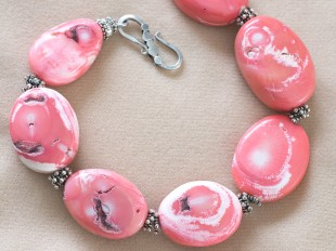 Pink coral (angelskin) necklace