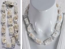 Druzy geode quartz and crystal necklace