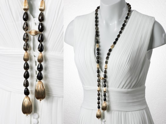 Fancy smoky quartz necklace