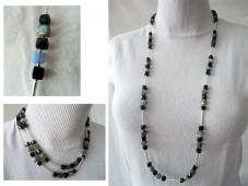 Labradorite and spinel necklace