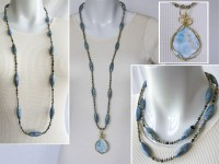 Larimar necklace with pendant