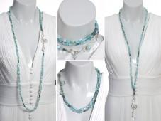 Elegant larimar necklace