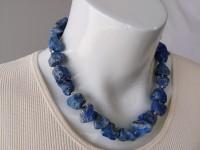 Rough lapis lazuli necklace