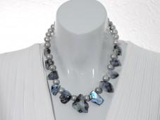 Blue rainbow moonstone necklace