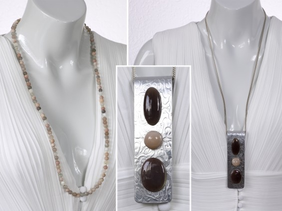 Moonstone necklace with pendant