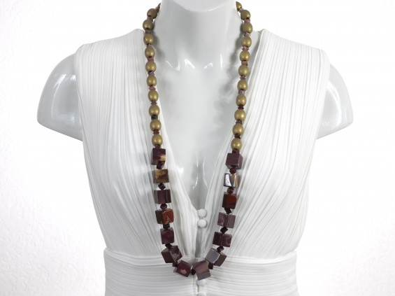 Long mookaite necklace