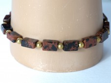 Mahogany obsidian stretch bracelet