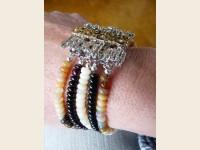 Precious opal bracelet