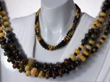 Black fire opal necklace