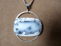 Dendrit opal pendant