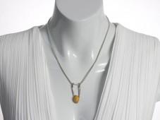 Precious opal pendant