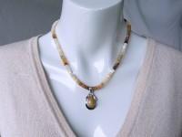 Silver opal pendant plus necklace