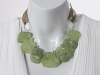 Adjustable green Prehnite necklace
