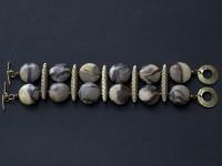 Double strand Septarian bracelet