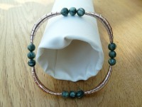 Rose gold seraphinite bangle