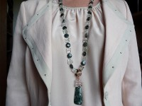 Seraphinite and prasiolite necklace