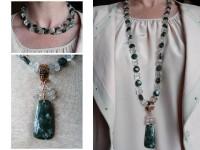 Seraphinite and prasiolite necklace
